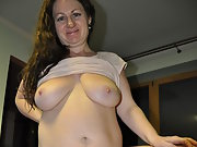 May fat slut wife, how do you like her hanging tits and cunt