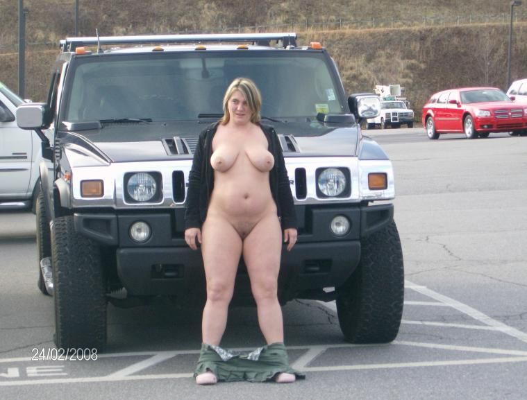 Bbw wife wife nude in car
