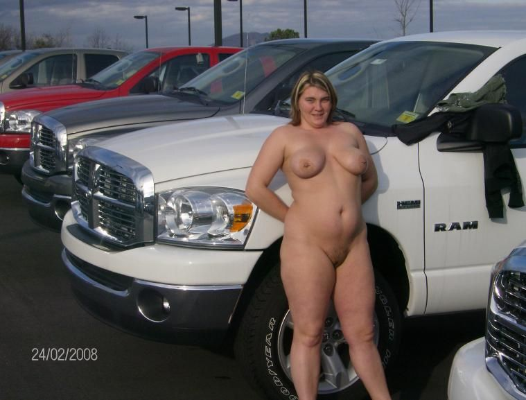 Pity, that Wife naked in car