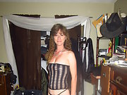 Slut wife in lingerie waiting for huge cock to pound her slippery cunt