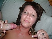 Swinger wife experiencing two cocks and double sperm count