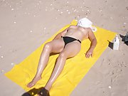 Beach in sunny Queensland Australia getting a tan