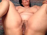 Wife's well used pussy after an all night interracial bbc gangbang