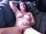 Chubby wife enjoys showing off her chubby body and hairy pussy