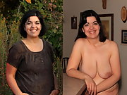 Beautiful, Sexy, Hairy, and Totally Naked Mature Woman