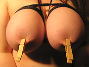Lorelaii's Tits Exquisitely bound with rope for your Entertainment