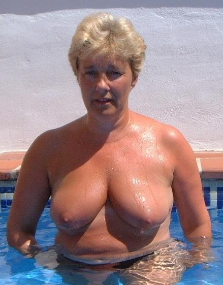 Outdoors sunbathing big mature tits