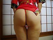 Sayumi was wear a sexy outfit of Japanese sexy Ninja