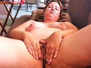 Chubby wife shows off hairy pussy wants cocks
