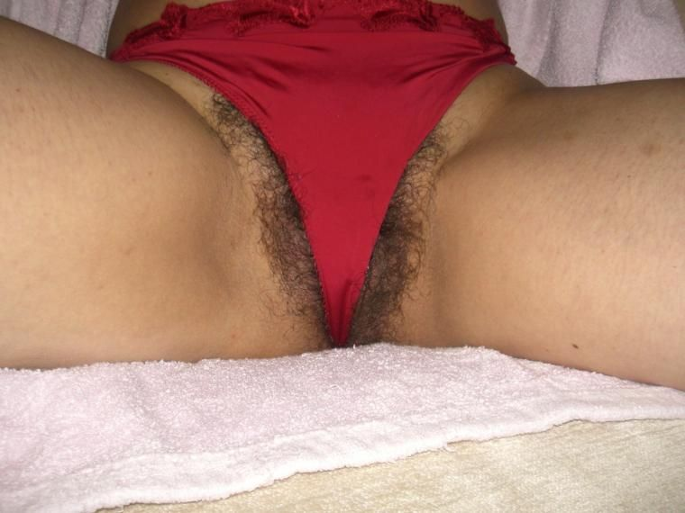 Necessary Thong in her pussy