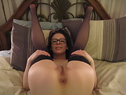 Young amateur MILF Katrina with small tits and meaty pussy