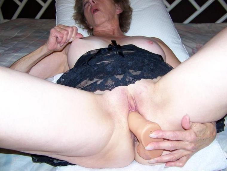 Black granny masturbating