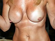 50 year old milf likes to show her big tits
