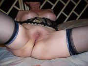 Mature wife gets herself off with a dildo