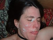 Debbie the massachusetts wife on display big sticky cumload facial