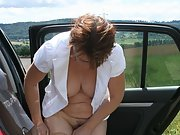 Naughty Wife posing during holiday showing some bare skin