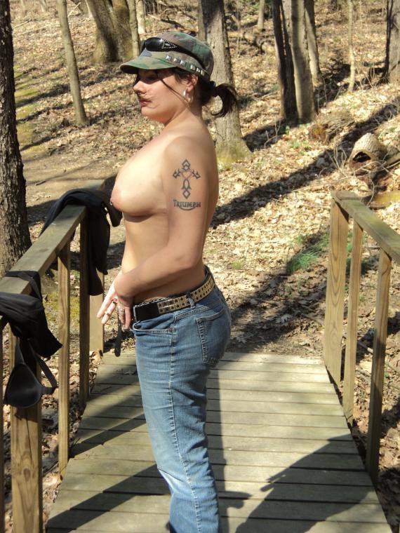 amateur wife hiking trail