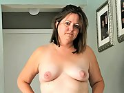 Soft chubby wife shows off her chubby body hairy pussy and asshole