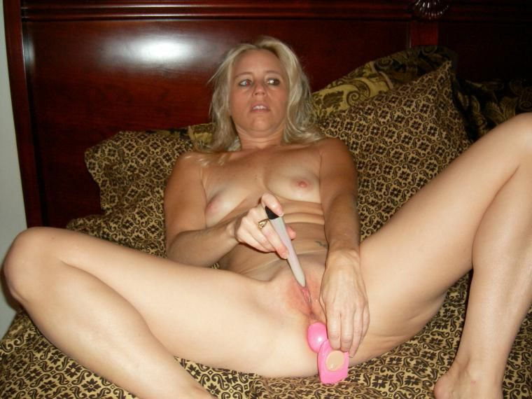 Wife masturbating with dildo