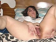 Lush brunette loves to show her hairy pussy and masturbate