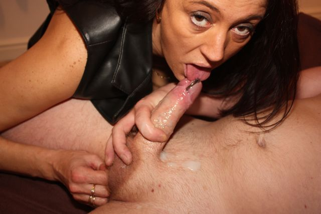 Mom makes son suck cock