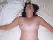 High spirits fucking of a nude tanline brunette mature MILF wife