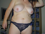 Chubby wife shows off sex body and hairy pussy for all to see