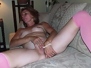 Blonde MILF loves her pussy as much as the camera