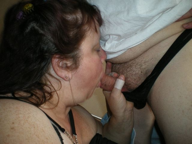 Excited Wife husband blow job
