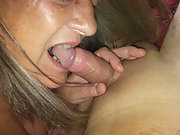 HOT WIFE PLAYING AROUND WITH HUBBYS COCK AND FLASHING TITS AND PUSSY