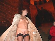 Mature woman loves to be naked in public places
