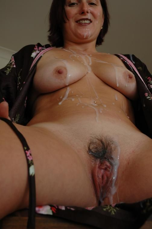 wife covered with cum