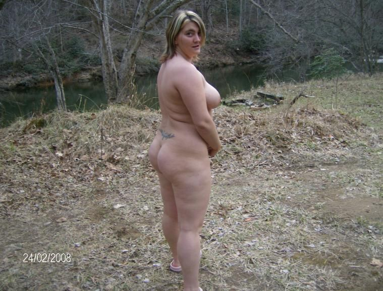 Wife naked outside