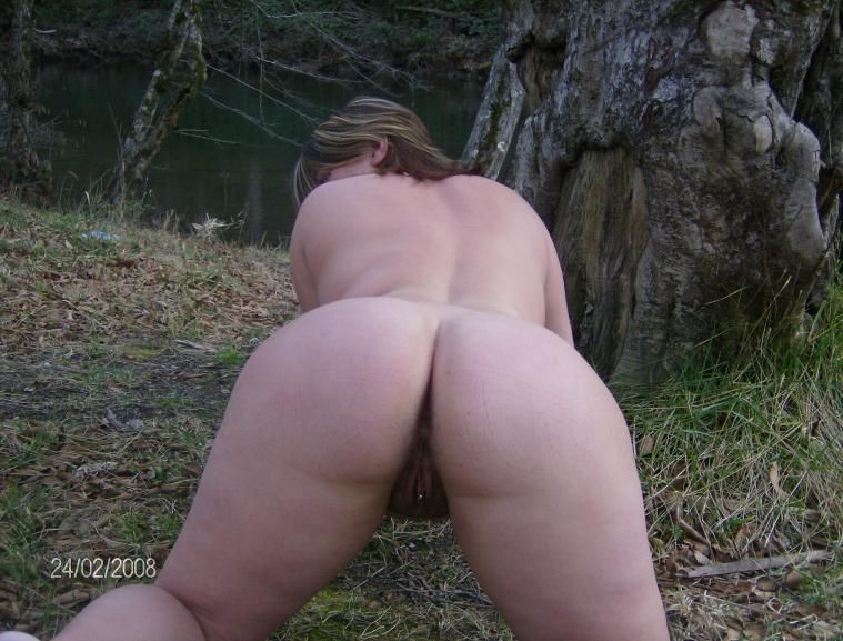 Bbw wife gets naked outside