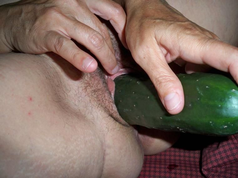 Bitch shoves bottles and dildos in pussy solo 2