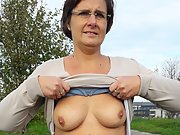 Mature chubby plump wife Anna will see you horny and show her body