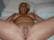 Lonely woman in her first apartment orgasms