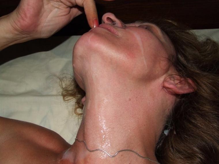 Creamy facials blowjob