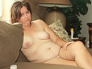 Chubby wife shows off her tiny panites and soft curvy body