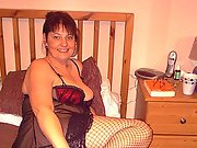 Hot mom poses in lingerie