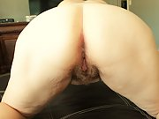 Chubby wife shows off her hairy pussy for all the horny guys and gals
