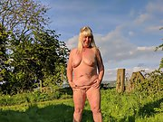 My 50 year old slut wife Jane naked outdoors, she loves being naked