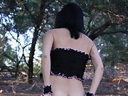 A day in the woods got hot quickly. My bitch changed into her sexy lingerie