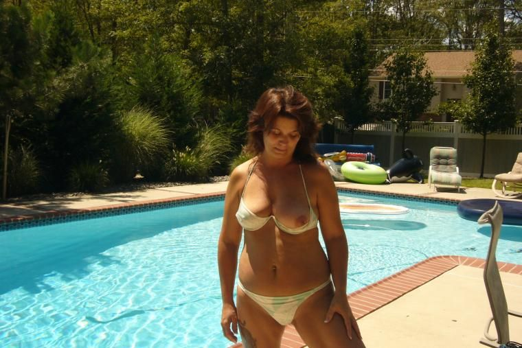 Wife showing off in bikini