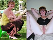 Naughty UK wife in sexy clothed then unclothed pictures