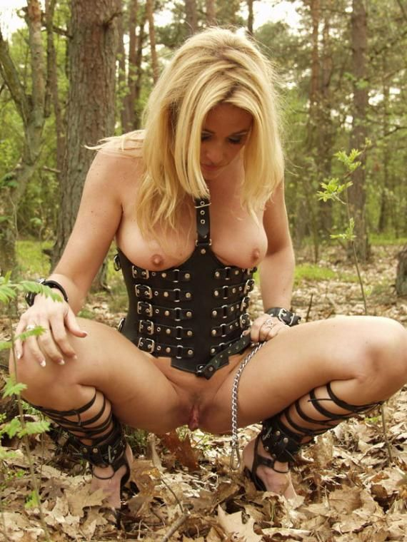 Blonde fucked in woods