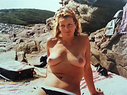 Wife strips on holiday and enjoys the attention as the heat rises