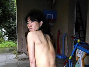 Asian milf adds her naked pussy to the scenery