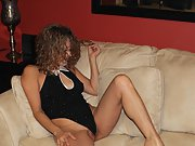 Mature Exhibitionist Wife Loves To Show Stripping Naked In Lounge
