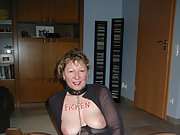 Sexy German mature slut loves to pose nude and in lingerie